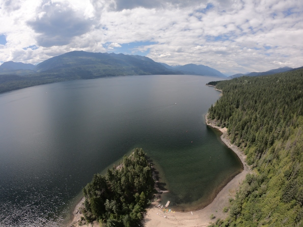 Kootenay Lake towards Kaslo